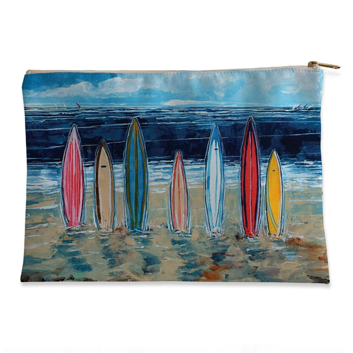Surfboards Flat Accessory Pouch
