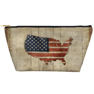 Wooden Flag Tapered Accessory Pouch