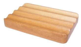 Hemu Wood Corrugated Soap Dish