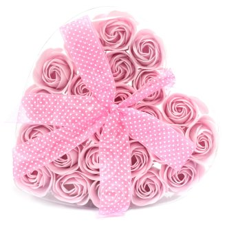 Pink Rose Soap Flowers Gift Box