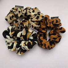 Load image into Gallery viewer, Leopard Rayon Scrunchie Multipack