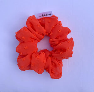 Red Chiffon Scrunchie