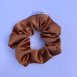 Burnt Orange Deluxe Satin Scrunchie