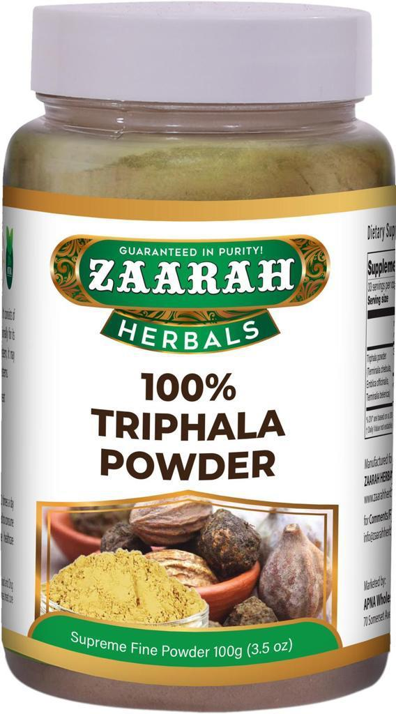 Zaarah Herbals 100% Triphala Powder - 100gm - Daily Fresh Grocery