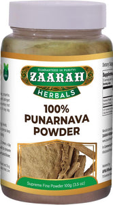 zaarah herbals 100% punarnava powder - 100gm - Daily Fresh Grocery