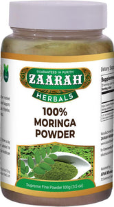 zaarah herbals 100% Moringa powder - 100gm - Daily Fresh Grocery