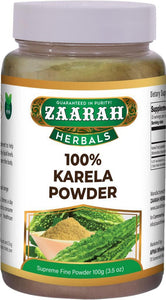zaarah herbals 100% karela powder - 100gm - Daily Fresh Grocery