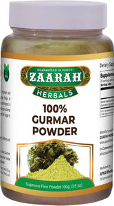 zaarah herbals 100% gurmar powder - 100gm - Daily Fresh Grocery
