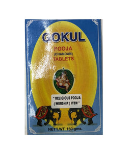 Gokul Pooja Chandan Tablets - 150gm - Daily Fresh Grocery