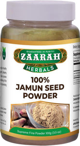 zaarah herbals 100% jamun seed powder - 100gm - Daily Fresh Grocery