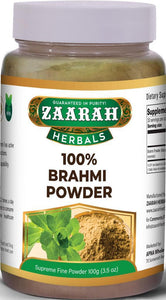 zaarah herbals 100% brahmi powder - 100gm - Daily Fresh Grocery