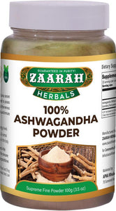 zaarah herbals 100% ashwagandha powder - 100gm - Daily Fresh Grocery