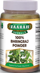 zaarah herbals 100% bhringraj powder - 100gm - Daily Fresh Grocery