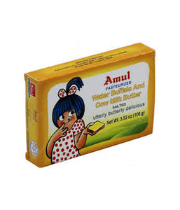 Amul Water Buffalo Cow Milk Butter Salted - 100gm - Daily Fresh Grocery