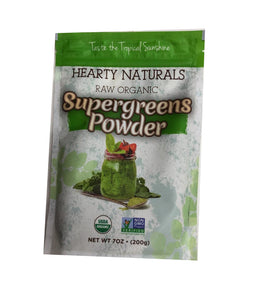 Hearty Naturals Raw Organic Super Greens Powder - 200 Gm - Daily Fresh Grocery
