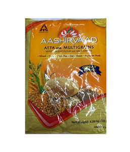 Aashirvaad Atta With Multigrains - 10 Lbs - Daily Fresh Grocery