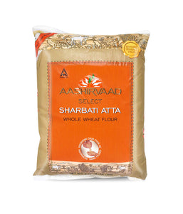 Aashirvaad Select Sharbati Atta Whole Wheat Flour - 10 Lbs - Daily Fresh Grocery