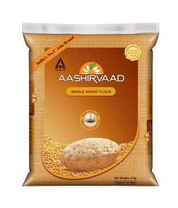 Aashirvaad Whole Wheat Flour - 4.54 kg - Daily Fresh Grocery