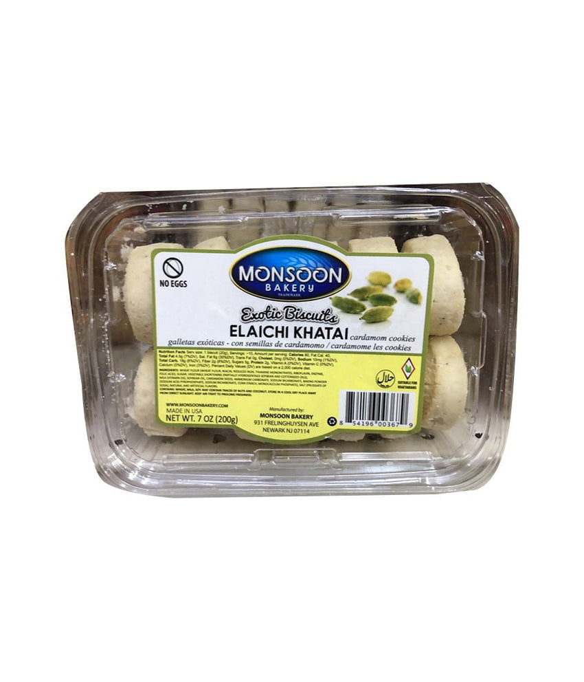 Monsoon Bakery Exotic Biscuits Elaichi Khatai / (200g) - Daily Fresh Grocery
