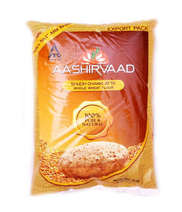 Aashirvaad Whole Wheat Flour - 20 lbs - Daily Fresh Grocery