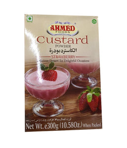 AHMED FOODS CUSTARD POWDER STRAWBERRY - 300gm - Daily Fresh Grocery