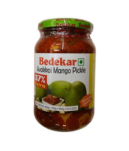 Bedekar Avakkai Mango Pickle - 550 Gm - Daily Fresh Grocery