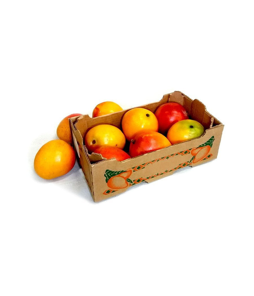 Boxed Haden (Yellow-Red) Mangoes About 9 Count - Daily Fresh Grocery