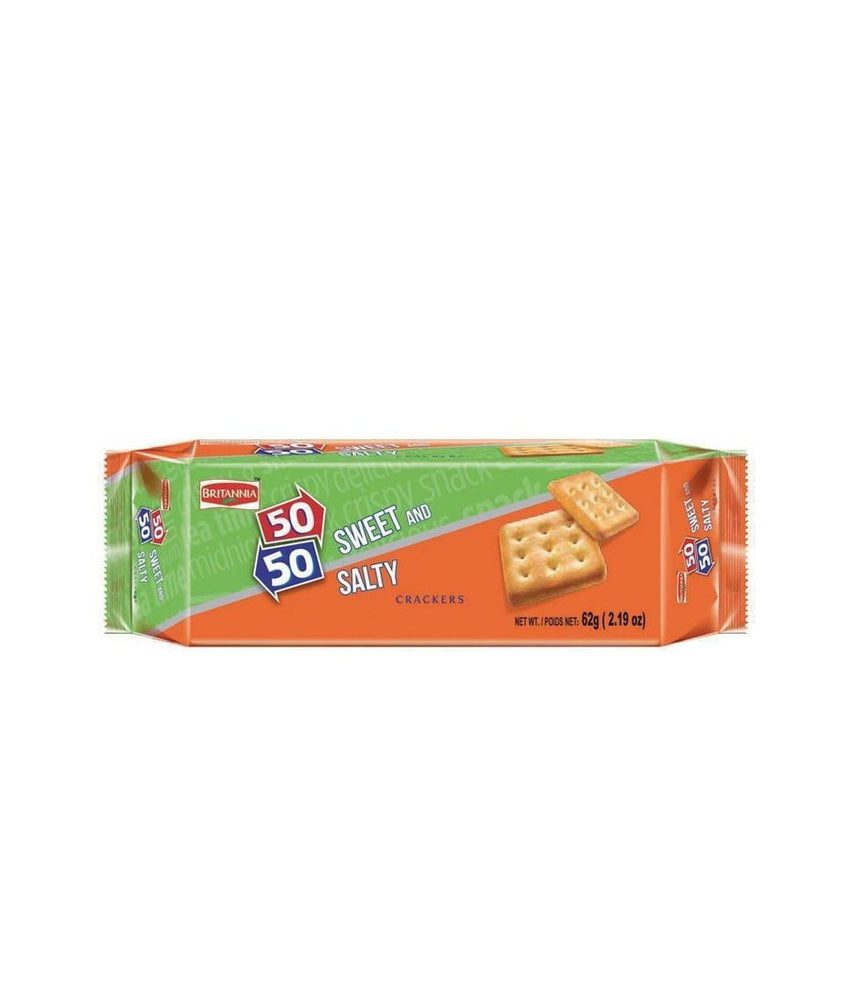 Britannia 50/50 Sweet and Salty / (62g) - Daily Fresh Grocery