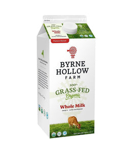 Byrne Hollow Farm 100% Grass-Fed Organic Whole Milk, 64 oz. - Daily Fresh Grocery
