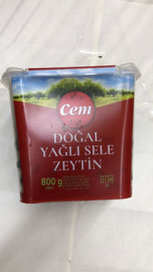 Cem Dogal Yagli Sele Zeytin - 800gm - Daily Fresh Grocery