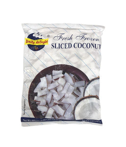 Daily Delight Fresh Frozen Sliced Coconut 400g - Daily Fresh Grocery