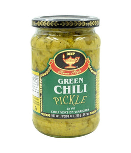 Deep Green Chili Pickle - 700 Gm - Daily Fresh Grocery