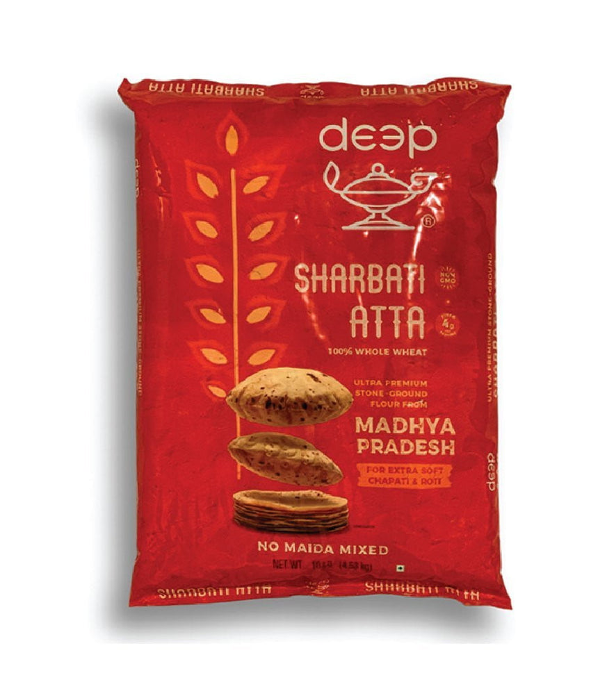 Deep Sharbati Atta Whole Wheat - 10 lbs - Daily Fresh Grocery