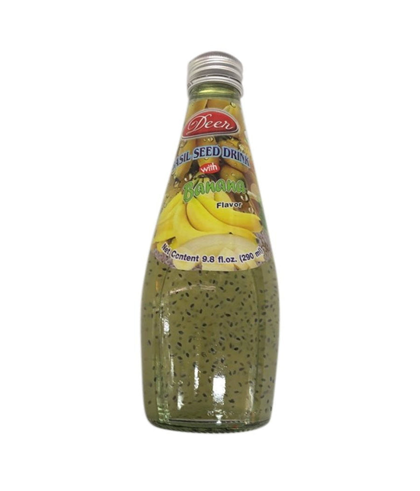 Deer Basil Seed Banana Drink - 290 ml - Daily Fresh Grocery