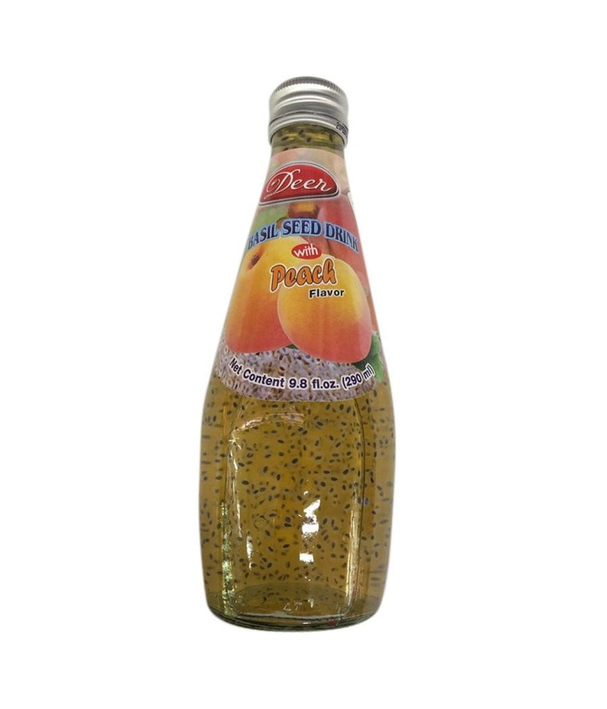 Deer Basil Seed Peach Drink - 290 ml - Daily Fresh Grocery