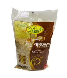 DEER – Organic Brown Basmati Rice- 8Lb - Daily Fresh Grocery