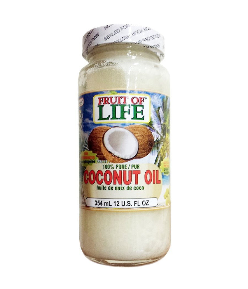 Fruit Of Life Pure Coconut Oil - 354ml - Daily Fresh Grocery