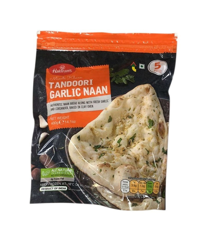 Haldirams Tandoori Garlic Naan - 400 Gm - Daily Fresh Grocery