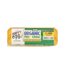 Happy Egg Co ORGANIC 12 Large Brown Grade A Eggs - Daily Fresh Grocery
