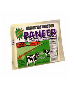 Home Style Pure Desi Low Fat Paneer Block 12 oz / 340 gram - Daily Fresh Grocery