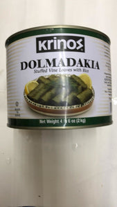 Krinos Dolmadakia Stuffed Vine Leaves With Rice - 2kg - Daily Fresh Grocery