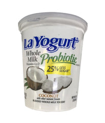 LaYogurt Probiotic Whole Milk Coconut - 907 Gm - Daily Fresh Grocery