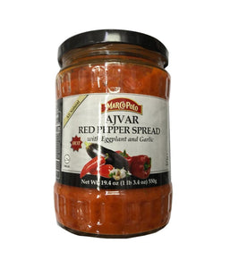 Marco Polo Ajvar Red Pepper Spread With Eggplant and Garlic - 550 Gm - Daily Fresh Grocery