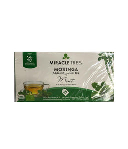 Miracle Tree Moringa Organic Superfood Tea Mint - 37.5 Gm - Daily Fresh Grocery