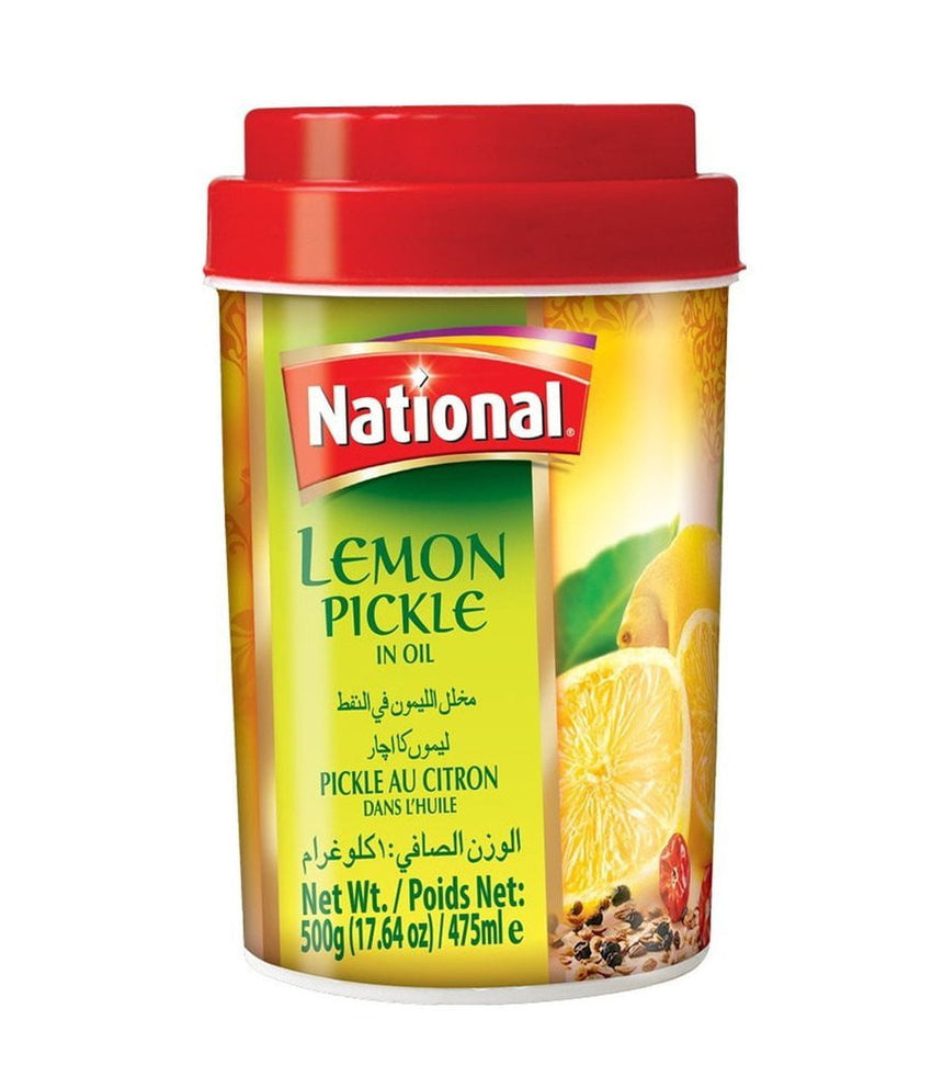 National Hot Lemon Pickle in Oil - 500 Gm - Daily Fresh Grocery
