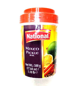 National Hot Mixed Pickle in Oil - 500 Gm - Daily Fresh Grocery