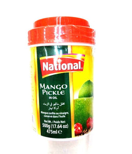 National Mango Pickle in Oil - 500 Gm - Daily Fresh Grocery
