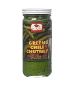 Nirav Green Chilli Chutney 220 ml - Daily Fresh Grocery