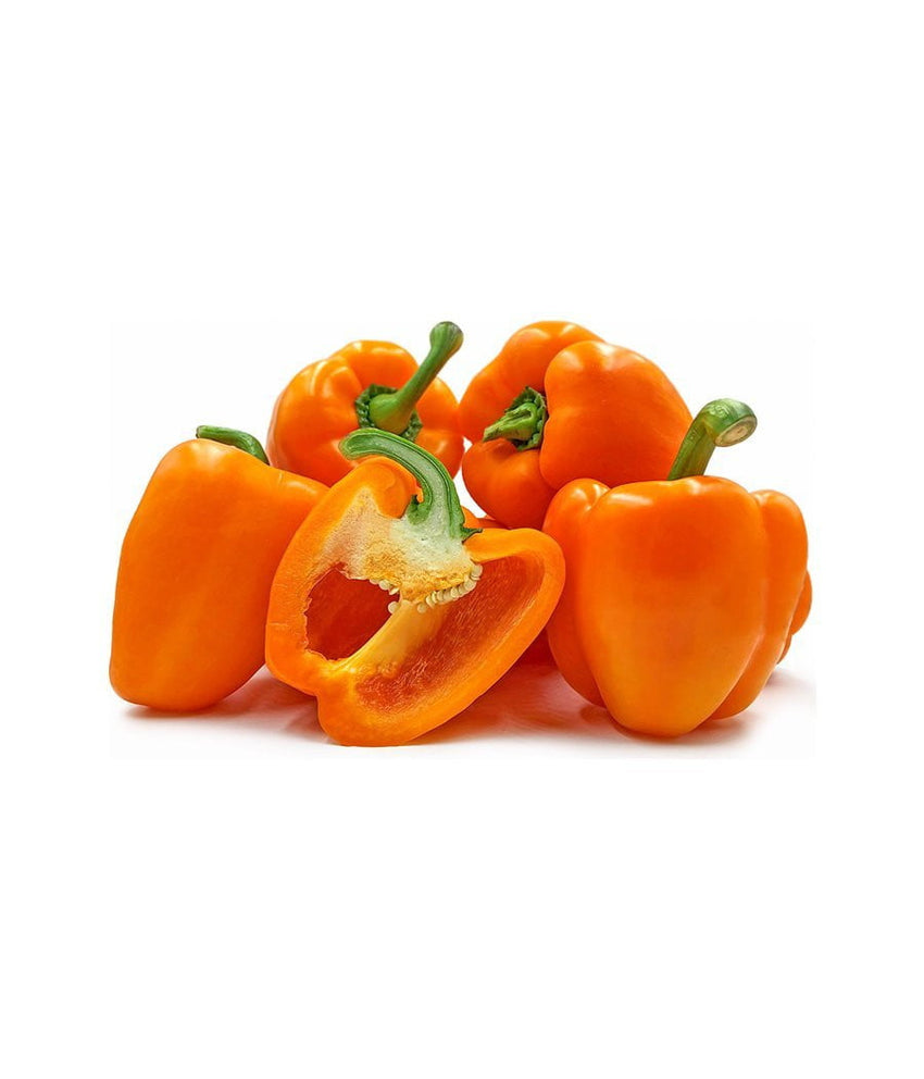 Orange Bell Pepper 1 lb / 454 gram - Daily Fresh Grocery