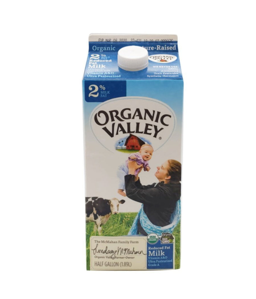 Organic Valley 2 % Reduced Fat Milk (Organic) - 1.89 Ltr - Daily Fresh Grocery